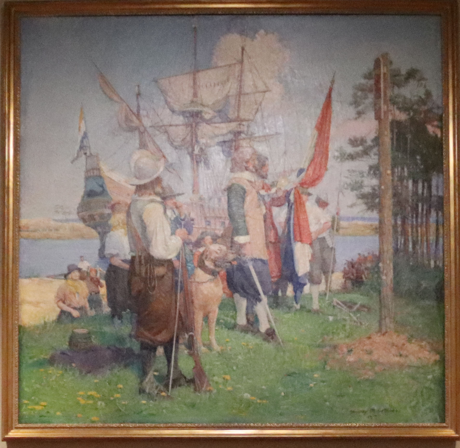 The Landing of the DeVries Colony at Swaanendael