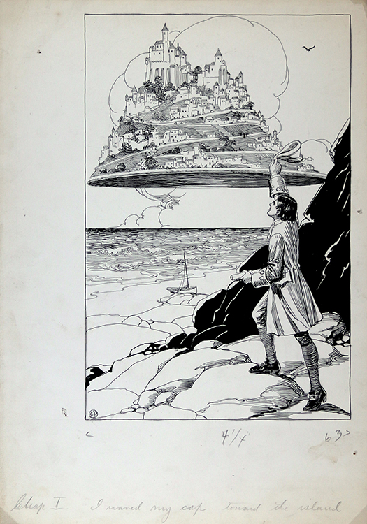 """I waved my cap toward the island"", 1930"