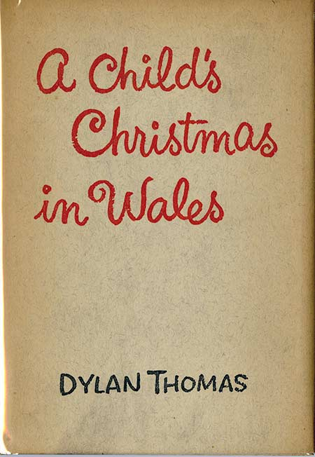 Dust jacket for Dylan Thomas's A Child's Christmas in Wales (1954)