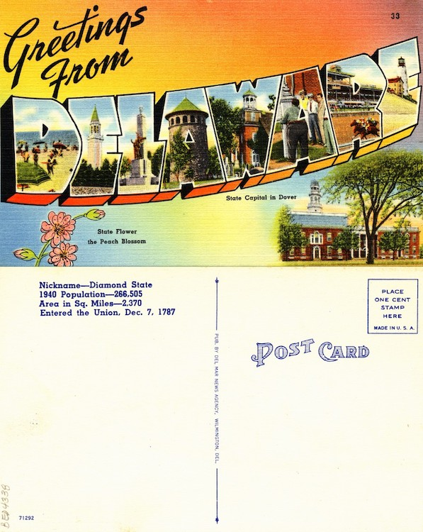 Greetings from Delaware, 1940–1945, From the Delaware Postcard Collection