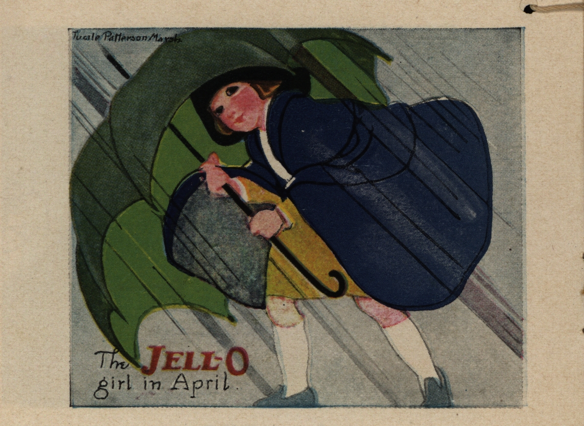 """The Jell-O Girl in April.""1924: A Jell-O Year, America's Most Famous Dessert. The Jell-O Company, 1924"