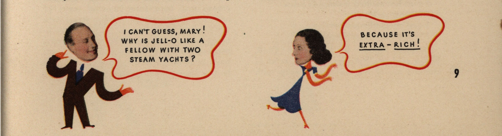 """""""I Can't Guess, Mary!""""Jack and Mary's Recipe Book. General Foods Corporation, 1937"""