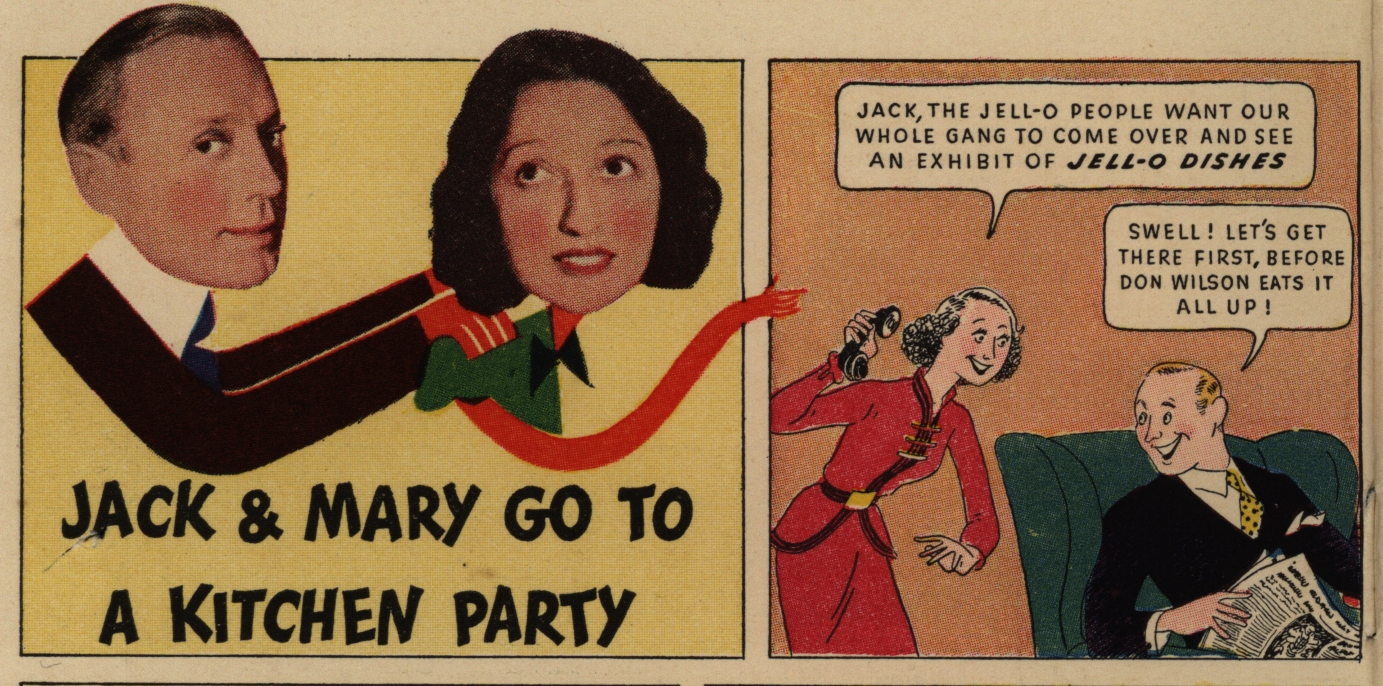 """""""Jack & Mary Go to a Kitchen Party.""""Jack and Mary's Recipe Book. General Foods Corporation, 1937"""