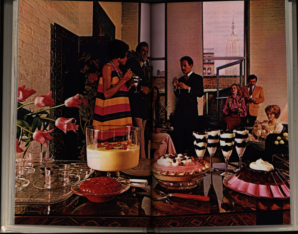 """""""Party Scene.""""The New Joys of Jell-O Dessert Recipe Book. General Foods Corporation, 1975."""
