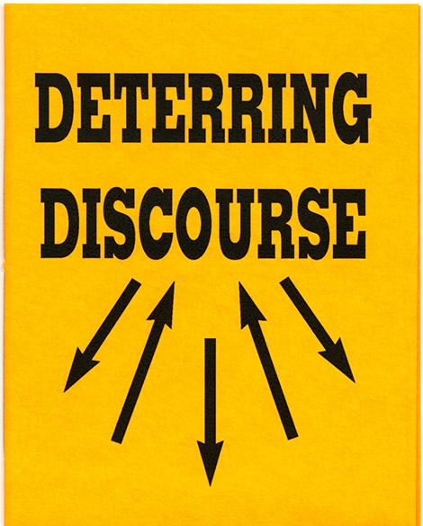Drucker, Johanna. Deterring Discourse. [Berkley, Calif.]: Druckwerk, 1993