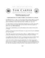 Thumbnail: Excerpt from statement by Senator Tom Carper, 2008 November 24