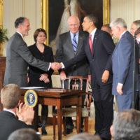 Thumbnail: Photograph of FERA White House signing, 2009 May 20