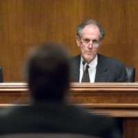 Thumbnail: Photograph of Senate Judiciary Committee hearing, 2009 December 9