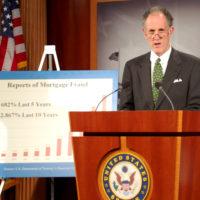 Thumbnail: Photograph of financial fraud press conference, 2009 April 22
