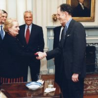 Thumbnail: Photograph with Secretary of State Madeleine Albright