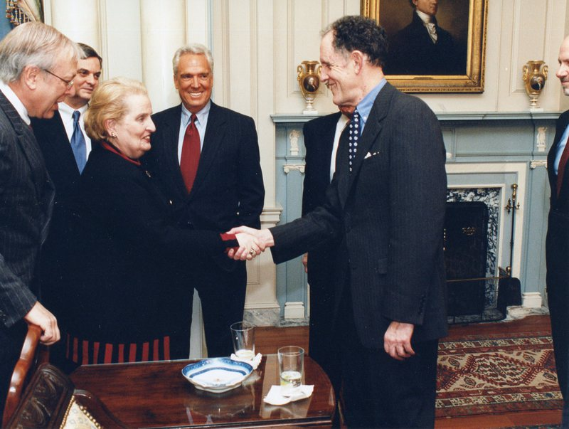 Photograph with Secretary of State Madeleine Albright