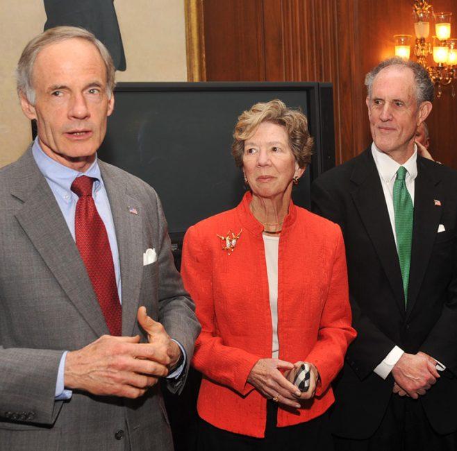 Photograph of Senator Tom Carper at Kaufman's swearing-in reception, 2009 January 16
