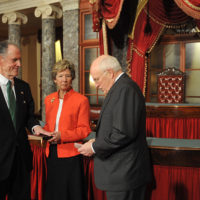 Thumbnail: Photograph of Ted Kaufman, Lynne Kaufman, and Dick Cheney, 2009 January 16