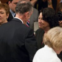 Thumbnail: Photograph with Supreme Court Justice Sonia Sotomayor, 2009 July
