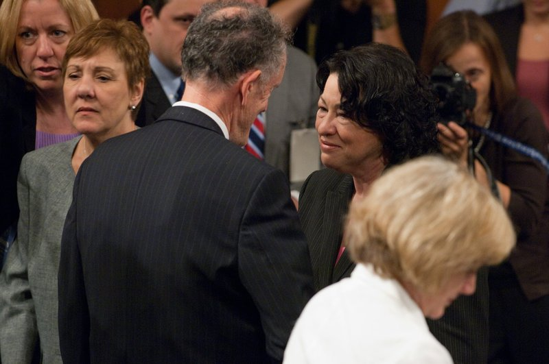 Photograph with Supreme Court Justice Sonia Sotomayor, 2009 July