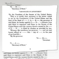 Thumbnail: Excerpt from 'Senate Rule II: Presentation of Credentials and Questions of Privilege from the Committee on Rules and Administration,' 2009