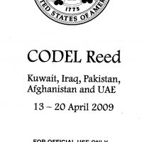 Thumbnail: Cover page of CODEL Reed document, 2009 April