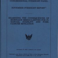 Thumbnail: Cover page of 'November Oversight Report,' 2010 November