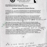 Thumbnail: Draft press release about Pakistan, 2009 May 12