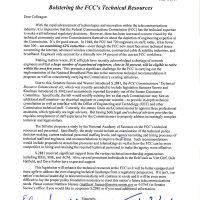 Thumbnail: Excerpt from FCC Technical Study Act 'Dear Colleague' letter, 2010 May 4
