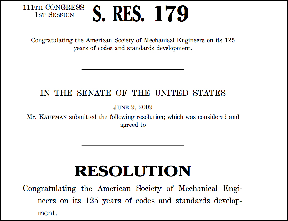 Excerpt from Senate Resolution 179, 2009 June 9