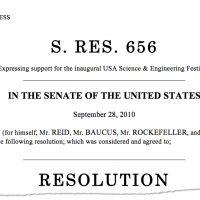 Thumbnail: Excerpt from Senate Resolution 656, 2010 September 28