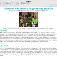 Thumbnail: Excerpt from Senator Kaufman's Engineering Update newsletter, 2009 November 2