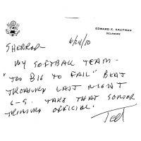 Thumbnail: Letter to Senator Sherrod Brown, 2010 June 24