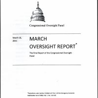 Thumbnail: 'March Oversight Report,' 2011 March
