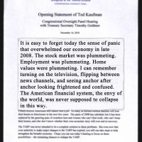 Thumbnail: 'Opening Statement of Ted Kaufman,' 2010 December 16