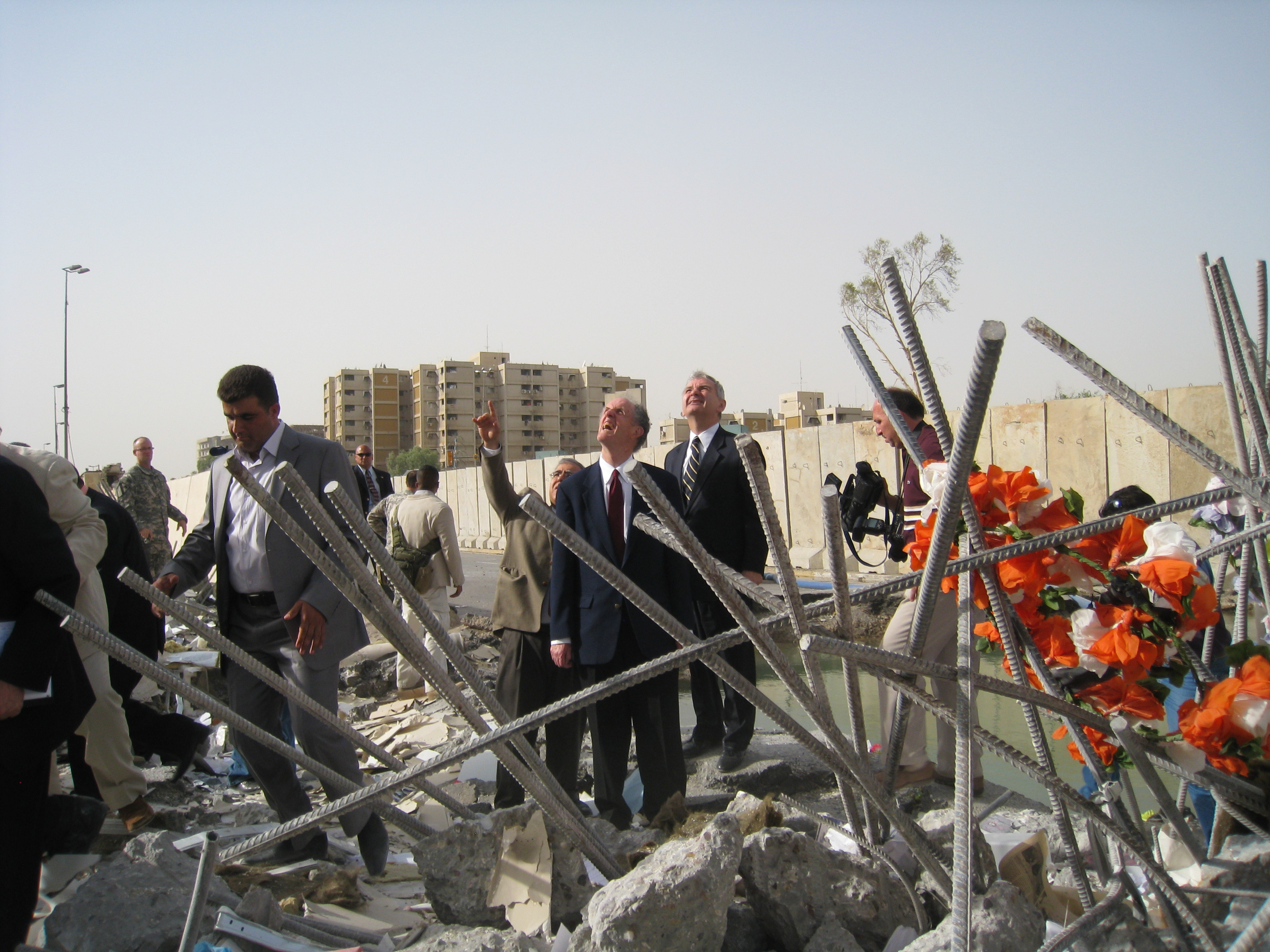 Photograph of Baghdad bombings, 2009 August
