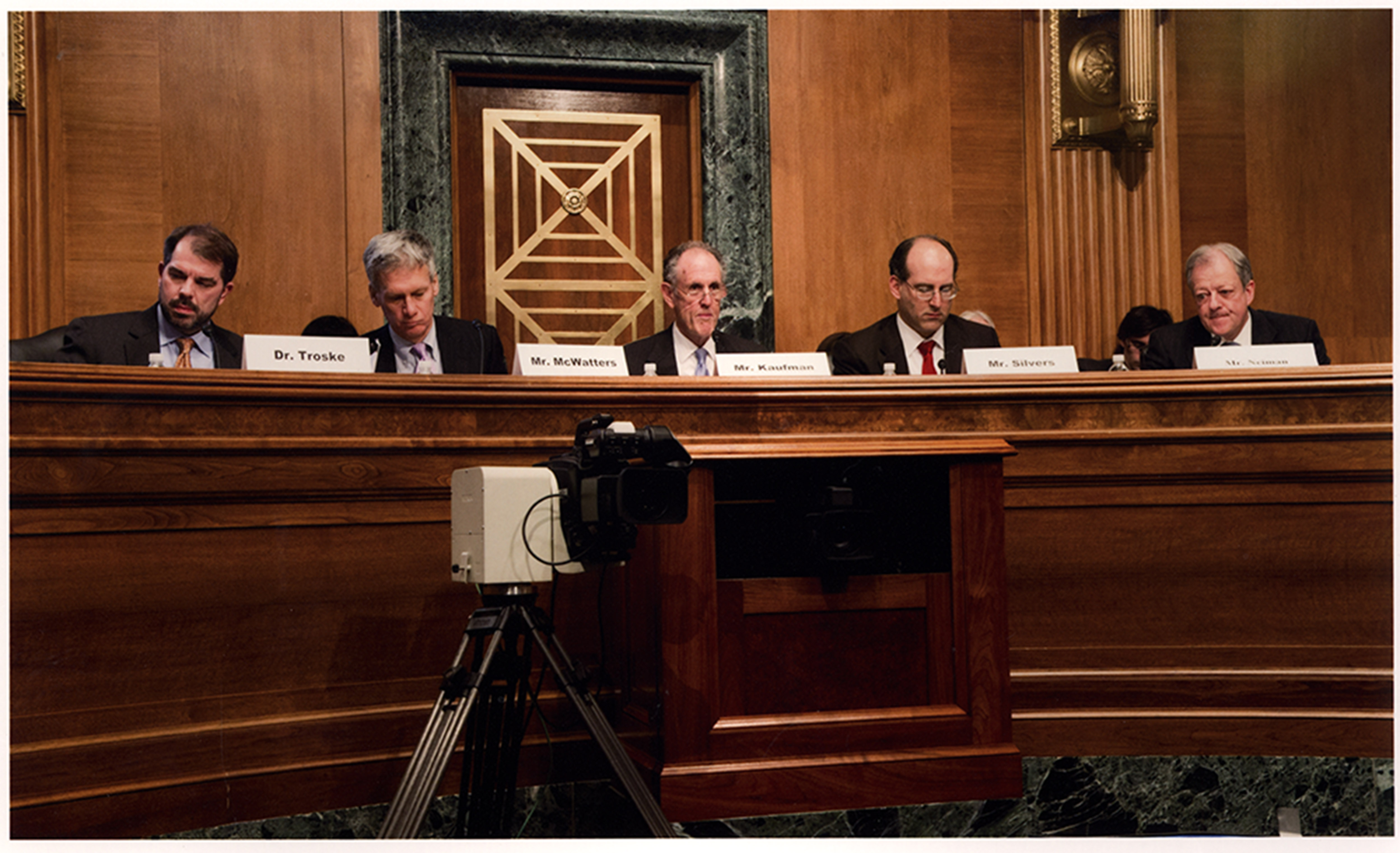 Photograph of Congressional Oversight Panel hearing, circa 2010 October – 2011 March