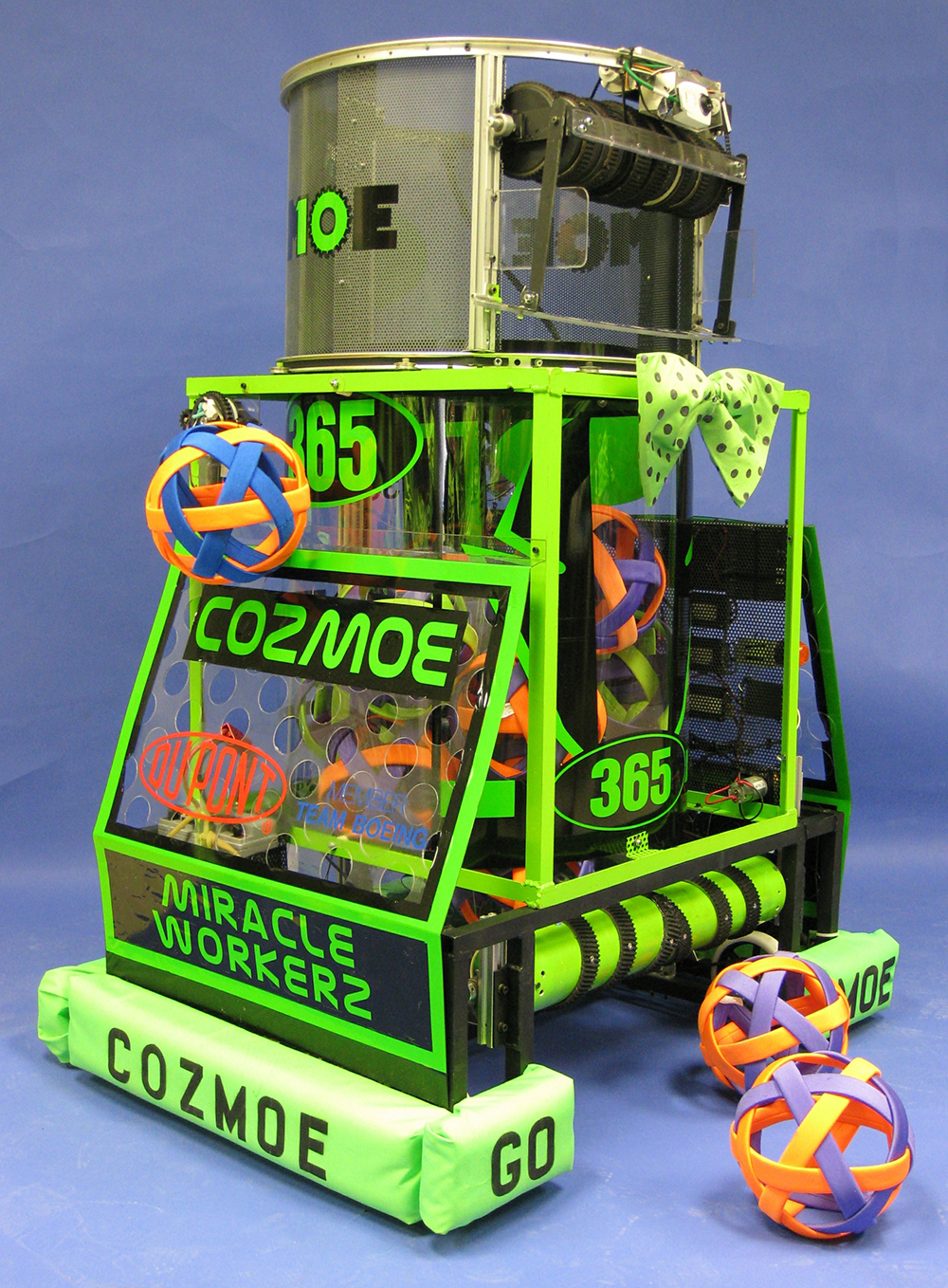 Photograph of Cozmoe, FIRST State Robotics robot, 2010