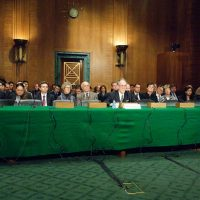 Thumbnail: Photograph of Senate Banking Committee, Subcommittee on Securities, Insurance, and Investment hearing, 2009 October 28