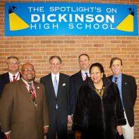 Thumbnail: Photograph of Senator Kaufman at John Dickinson High School, 2010 February 18 2