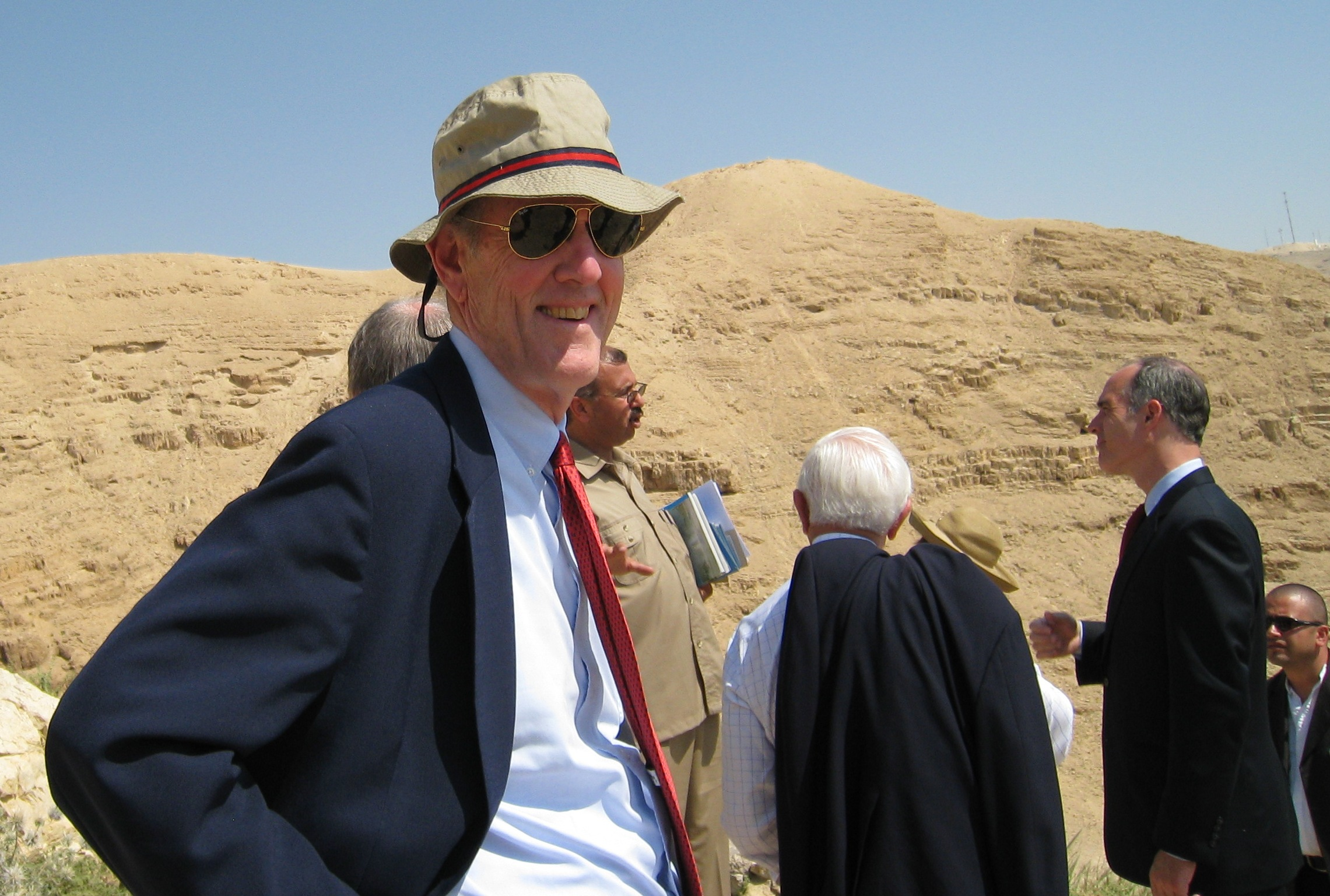 Photograph of Senator Kaufman in the West Bank city of Jericho, 2009 May
