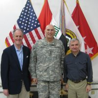 Thumbnail: Photograph of Senator Kaufman with Multi-National Forces General Raymond Odierno in Iraq, 2009 April