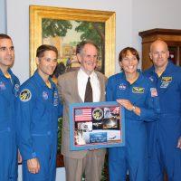 Thumbnail: Photograph of Senator Kaufman with STS-131 Experiment Express astronauts, 2010 May 26