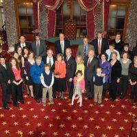 Thumbnail: Photograph of Senator Kaufman's swearing-in reception, 2009 January 16