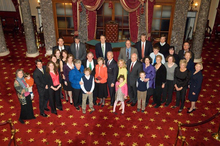 Photograph of Senator Kaufman's swearing-in reception, 2009 January 16