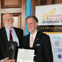 Thumbnail: Photograph of Senator Ted Kaufman with ASME President, Amos E. Holt, 2010 April 21