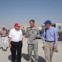 Thumbnail: Photograph with General McChrystal, 2009 August