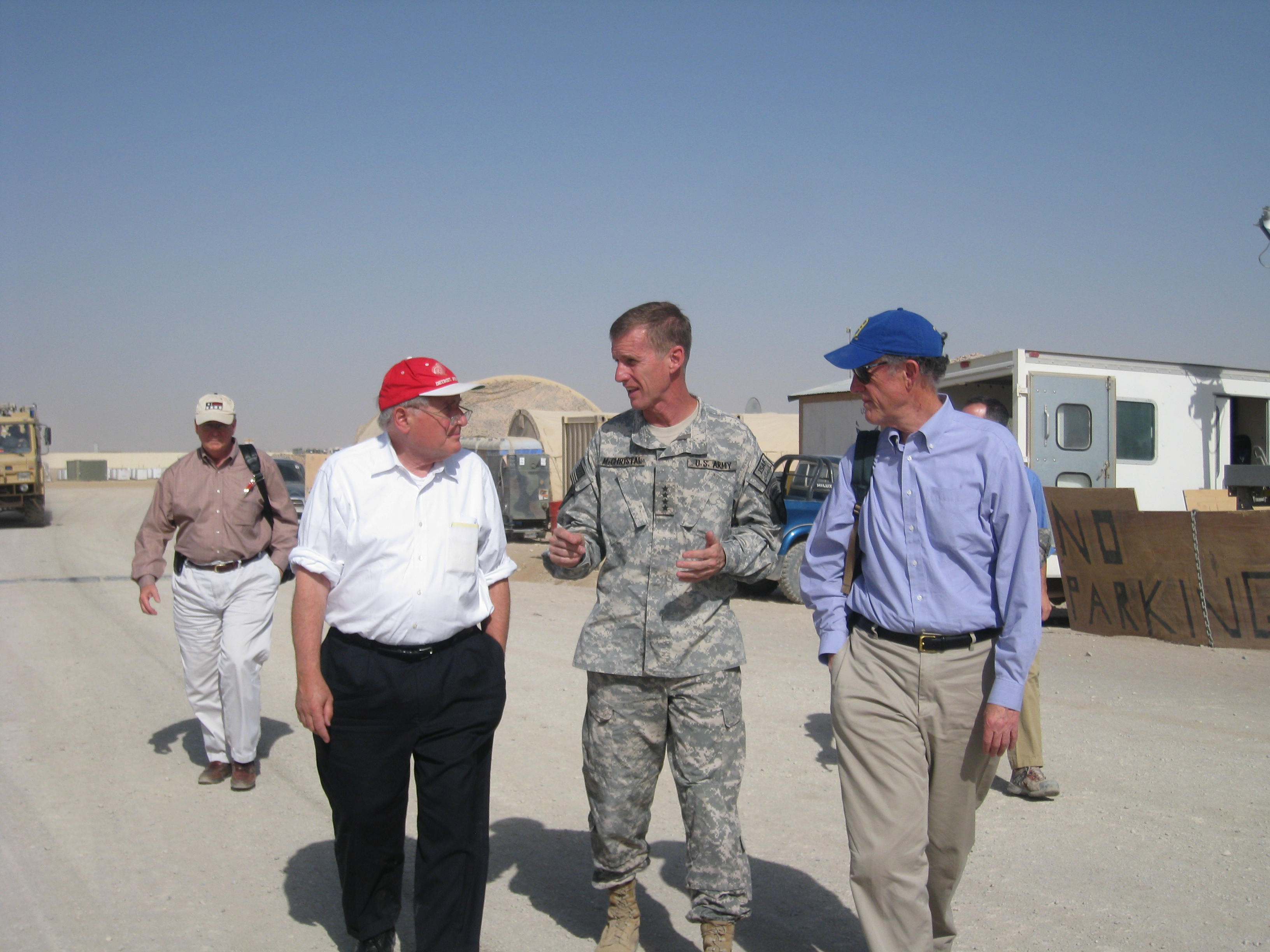 Photograph with General McChrystal, 2009 August