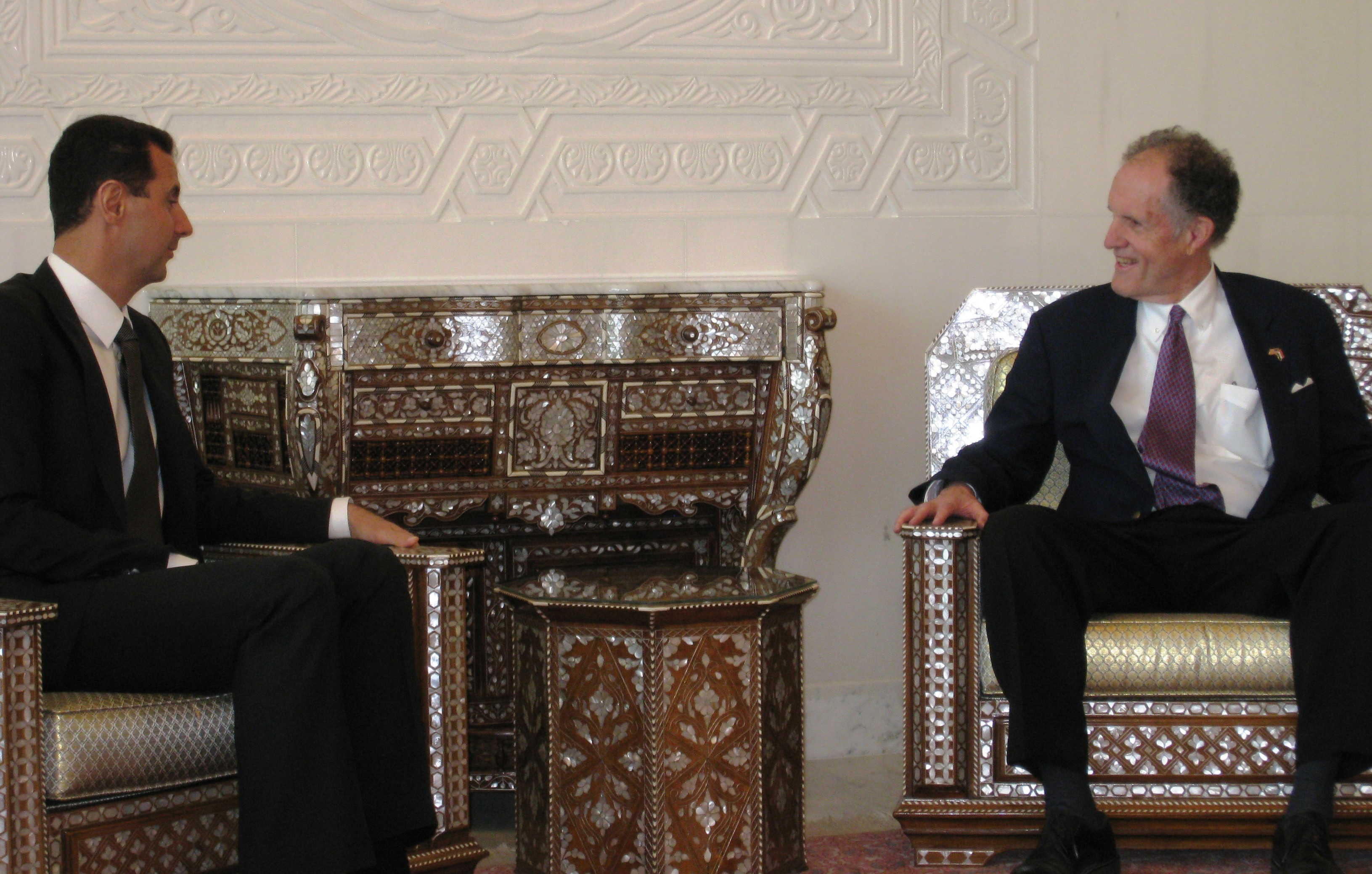 Photograph with Syrian President Bashar Al-Assad, 2009 May