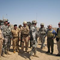 Thumbnail: Photograph with troops in Iraq, 2010 March
