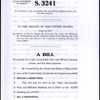 Thumbnail: Safe Banking Act of 2010, S. 3241, 111th Congress, 2010 April 21