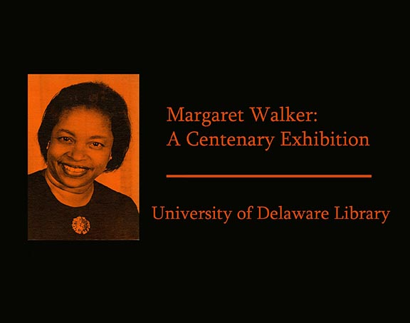 "Poster for ""Margaret Walker: A Centenary Exhibition"""