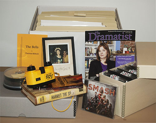 Sampling of the research material available in the Theresa Rebeck papers