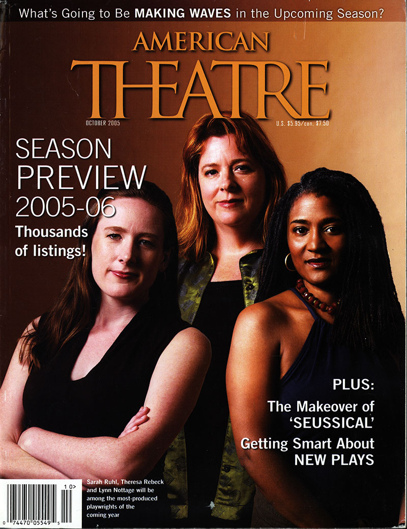 """""""A Date with Theresa Rebeck,"""" in American Theatre, October 2005"""