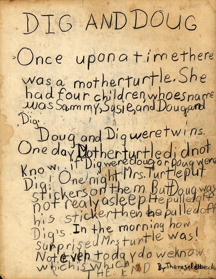 Dig and Doug (autograph manuscript of a story), circa 1964